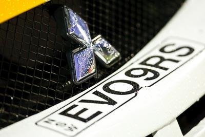 18;20-June-2008;ARC;Australia;Australian-Rally-Championship;David-Callaghan;David-Hills;Evo-9;Maroochy-Showgrounds;Mitsubishi-Lancer;Mitsubishi-Lancer-Evolution-IX;Nambour;QLD;Queensland;Sunshine-Coast;auto;badge;detail;grill;logo;motorsport;movement;racing;speed;super-telephoto