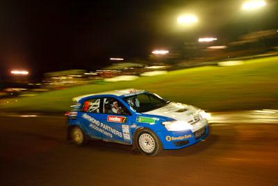 7;20-June-2008;ARC;Australia;Australian-Rally-Championship;Glen-Raymond;Maroochy-Showgrounds;Matt-Raymond;Nambour;QLD;Queensland;Sunshine-Coast;Toyota-Corolla-Sportivo;auto;motorsport;movement;night;racing;speed;wide-angle