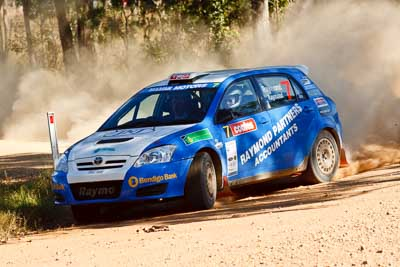 7;21-June-2008;ARC;Australia;Australian-Rally-Championship;Glen-Raymond;Matt-Raymond;QLD;Queensland;Sunshine-Coast;Toyota-Corolla-Sportivo;auto;motorsport;racing;telephoto