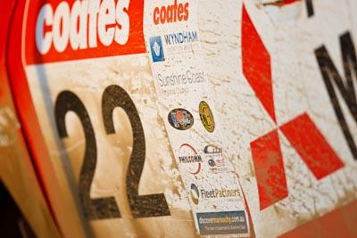 22;21-June-2008;ARC;Australia;Australian-Rally-Championship;Mitsubishi-Mirage;Molly-Taylor;QLD;Queensland;Sunshine-Coast;Toni-Feaver;atmosphere;auto;detail;motorsport;racing;service-park;super-telephoto