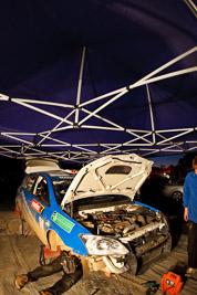 7;21-June-2008;ARC;Australia;Australian-Rally-Championship;Glen-Raymond;Matt-Raymond;QLD;Queensland;Sunshine-Coast;Toyota-Corolla-Sportivo;atmosphere;auto;fisheye;motorsport;movement;night;racing;service-park;speed
