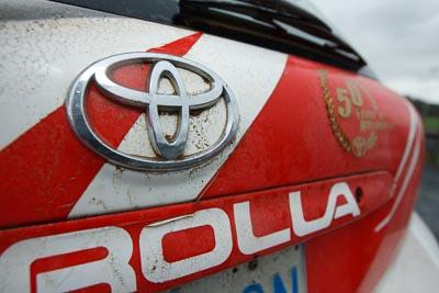16-November-2008;ARC;Australia;Australian-Rally-Championship;Coffs-Coast;Coffs-Harbour;NSW;New-South-Wales;Toyota;auto;badge;close‒up;detail;dirty;logo;motorsport;racing;wide-angle