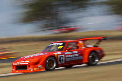 47;7-March-2009;Australia;Mazda-RX‒7;Morgan-Park-Raceway;QLD;Queensland;Robert-Coutts;Warwick;auto;motion-blur;motorsport;racing;super-telephoto