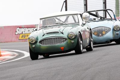 34;11-April-2009;1959-Austin-Healey-3000;Australia;Bathurst;Brian-Duffy;FOSC;Festival-of-Sporting-Cars;Historic-Sports-Cars;Mt-Panorama;NSW;New-South-Wales;RFE437;auto;classic;motorsport;racing;super-telephoto;vintage