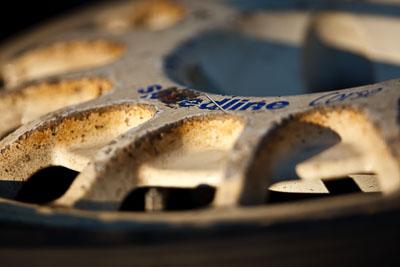 10-May-2009;APRC;Asia-Pacific-Rally-Championship;Australia;IROQ;Imbil;Imbil-Showgrounds;International-Rally-Of-Queensland;QLD;Queensland;Rally-Queensland;Speedline-Corse;Sunshine-Coast;auto;brand;detail;dirty;logo;morning;motorsport;racing;showgrounds;super-telephoto;wheel