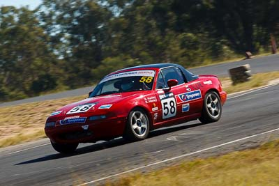 58;6-June-2009;Australia;Kim-Harley;Mazda-MX‒5;Mazda-MX5;Mazda-Miata;Morgan-Park-Raceway;QLD;Queensland;Regularity;Warwick;auto;motorsport;racing;telephoto