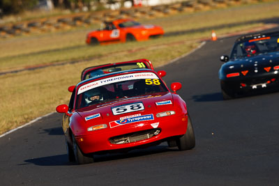 58;6-June-2009;Australia;Group-2F;Mazda-MX‒5;Mazda-MX5;Mazda-Miata;Morgan-Park-Raceway;QLD;Queensland;Sarah-Harley;Warwick;auto;motorsport;racing;super-telephoto
