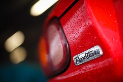 50mm;7-June-2009;Australia;Mazda-MX‒5;Mazda-MX5;Mazda-Miata;Morgan-Park-Raceway;QLD;Queensland;Topshot;Warwick;atmosphere;auto;badge;close‒up;detail;logo;motorsport;paddock;racing;wet
