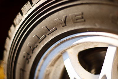 18-July-2009;50mm;Australia;Jimna;QLD;QRC;Queensland;Queensland-Rally-Championship;Rallye;Sunshine-Coast;atmosphere;auto;close‒up;detail;motorsport;racing;service-centre;service-park;tyre;wheel