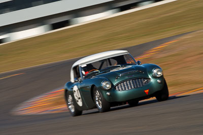 34;1959-Austin-Healey-3000;24-July-2009;Australia;Brian-Duffy;FOSC;Festival-of-Sporting-Cars;Group-S;NSW;Narellan;New-South-Wales;Oran-Park-Raceway;auto;classic;historic;motion-blur;motorsport;racing;super-telephoto;vintage