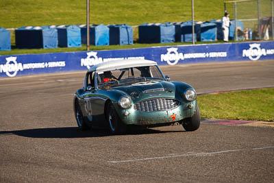 34;1959-Austin-Healey-3000;25-July-2009;Australia;Brian-Duffy;FOSC;Festival-of-Sporting-Cars;Group-S;NSW;Narellan;New-South-Wales;Oran-Park-Raceway;auto;classic;historic;motorsport;racing;telephoto;vintage
