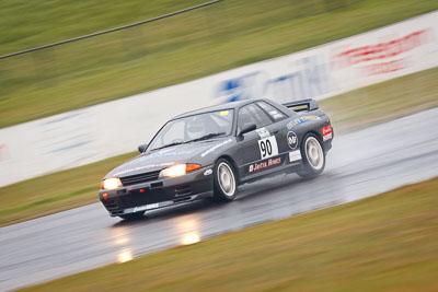 90;1993-Nissan-Skyline-R32-GTR;26-July-2009;Australia;Colin-Ward;FOSC;Festival-of-Sporting-Cars;Improved-Production;NSW;Narellan;New-South-Wales;Oran-Park-Raceway;auto;motion-blur;motorsport;racing;super-telephoto