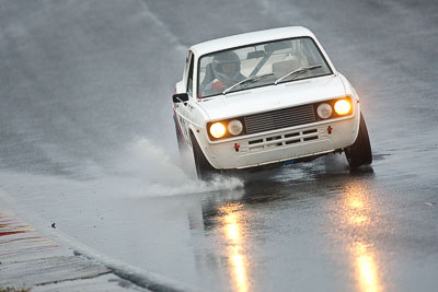 128;1973-Fiat-128-Sports-Coupe;26-July-2009;Australia;FOSC;Festival-of-Sporting-Cars;NSW;Narellan;New-South-Wales;Oran-Park-Raceway;Regularity;Tony-Dorrell;auto;motorsport;racing;super-telephoto