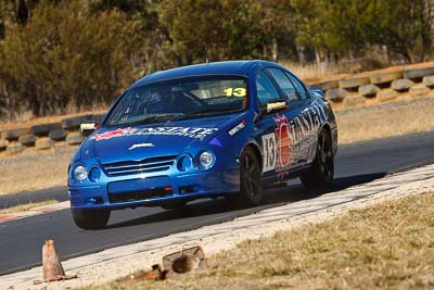 13;7-August-2009;Australia;Ford-Falcon-AU;Morgan-Park-Raceway;QLD;Queensland;Saloon-Cars;Shannons-Nationals;Troy-Hoey;Warwick;auto;motorsport;racing;super-telephoto