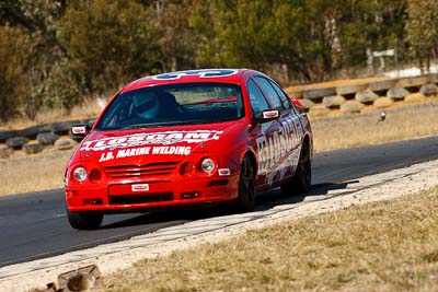 35;7-August-2009;Australia;Chris-Berry;Ford-Falcon-AU;Morgan-Park-Raceway;QLD;Queensland;Saloon-Cars;Shannons-Nationals;Warwick;auto;motorsport;racing;super-telephoto