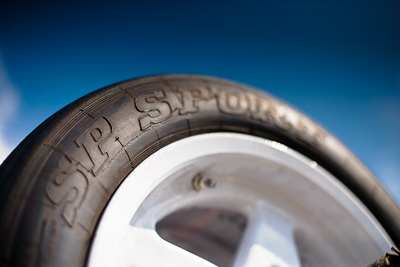 19-September-2009;50mm;Australia;Kurwongbah;Lakeside-Classic-Speed-Festival;Lakeside-Park;Lakeside-Raceway;QLD;Queensland;SP-Sport;Topshot;atmosphere;auto;brand;close‒up;detail;logo;motorsport;racing;sky;tyre;wheel