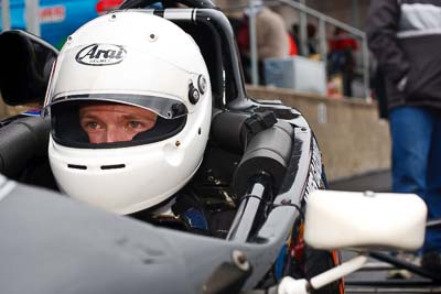43;29-May-2010;50mm;Australia;Formula-Ford;James-Gardiner;Morgan-Park-Raceway;QLD;Queensland;Van-Dieman-RF93;Warwick;auto;cockpit;in‒car;motorsport;paddock;portrait;racing
