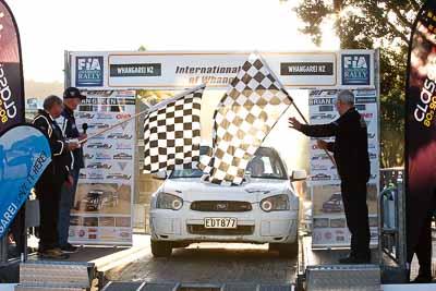 56;17-July-2011;56;APRC;Asia-Pacific-Rally-Championship;Brad-Henty;International-Rally-Of-Whangarei;Murray-Huband;NZ;New-Zealand;Northland;Rally;Subaru-Impreza-WRX-STI;Whangarei;auto;garage;motorsport;podium;racing;telephoto