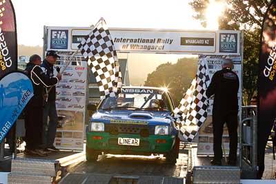 84;17-July-2011;APRC;Asia-Pacific-Rally-Championship;Daniel-Willson;International-Rally-Of-Whangarei;Michael-Young;NZ;New-Zealand;Nissan-March;Northland;Rally;Whangarei;auto;garage;motorsport;podium;racing;telephoto