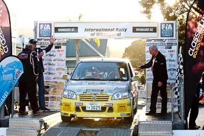 81;17-July-2011;81;APRC;Asia-Pacific-Rally-Championship;International-Rally-Of-Whangarei;NZ;New-Zealand;Northland;Rally;Suzuki-Ignis;Takashi-Nihei;Toru-Nakayama;Whangarei;auto;garage;motorsport;podium;racing;telephoto