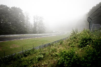 29-July-2011;Adenauer‒Forst;Deutschland;Germany;Green-Hell;Grüne-Hölle;Nordschleife;Nuerburg;Nuerburgring;Nurburg;Nurburgring;Nürburg;Nürburgring;Rhineland‒Palatinate;atmosphere;auto;barrier;circuit;fog;landscape;mood;motorsport;racing;scenery;track;trees;wide-angle