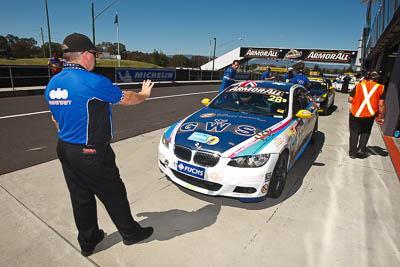 28;24-February-2012;Australia;BMW-335i;Bathurst;Bathurst-12-Hour;Christian-DAgostin;GWS-Personnel-Motorsport;Garth-Duffy;Mt-Panorama;NSW;New-South-Wales;Peter-ODonnell;atmosphere;auto;endurance;motorsport;pitlane;racing;wide-angle