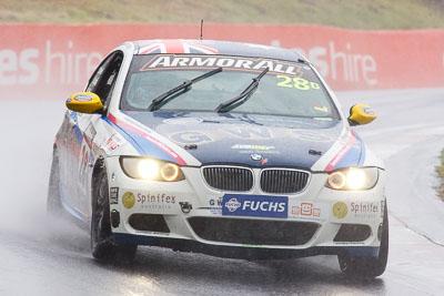 28;26-February-2012;Australia;BMW-335i;Bathurst;Bathurst-12-Hour;Christian-DAgostin;GWS-Personnel-Motorsport;Garth-Duffy;Mt-Panorama;NSW;New-South-Wales;Peter-ODonnell;auto;endurance;motorsport;racing;rain;super-telephoto;wet