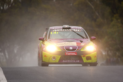 14;14;26-February-2012;Australia;Bathurst;Bathurst-12-Hour;Henk-Thijssen;Ivo-Breukers;Martin-Bailey;Mt-Panorama;NSW;New-South-Wales;Red-Camel-Jordans;Seat-Leon-20-TDI;auto;endurance;motorsport;racing;rain;super-telephoto;wet
