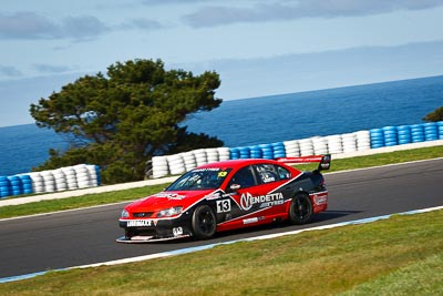 13;13;22-September-2012;Australia;Bobby-Jane;Ford-Falcon-BA;Phillip-Island;Shannons-Nationals;V8-Touring-Cars;VIC;Victoria;auto;motorsport;ocean;racing;telephoto