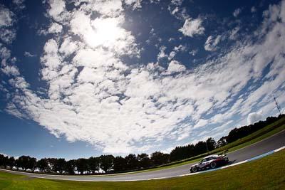 12;12;23-September-2012;AGT;Australia;Australian-GT-Championship;Grand-Tourer;Klark-Quinn;Phillip-Island;Porsche-911-GT3-R-997;Shannons-Nationals;VIC;VIP-Petfoods;Victoria;auto;clouds;endurance;fisheye;motorsport;racing;sky