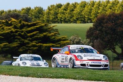 65;23-September-2012;65;Australia;Fraser-Ross;Phillip-Island;Porsche-911-GT3-Cup-997;Porsche-GT3-Cup-Challenge;Shannons-Nationals;VIC;Victoria;auto;motorsport;racing;super-telephoto;trees