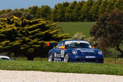 20;20;23-September-2012;Australia;Phillip-Island;Porsche-911-GT3-Cup-997;Porsche-GT3-Cup-Challenge;Shannons-Nationals;Tim-Miles;VIC;Victoria;auto;motorsport;racing;super-telephoto;trees