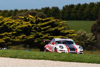 18;23-September-2012;Australia;Michael-Almond;Phillip-Island;Porsche-911-GT3-Cup-997;Porsche-GT3-Cup-Challenge;Shannons-Nationals;VIC;Victoria;auto;motorsport;racing;super-telephoto;trees