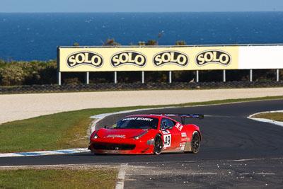 49;23-September-2012;AGT;Australia;Australian-GT-Championship;Ferrari-458-Italia-GT3;Grand-Tourer;Phillip-Island;Renato-Loberto;Shannons-Nationals;Tony-Defelice;VIC;Victoria;auto;endurance;motorsport;racing;super-telephoto