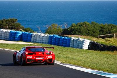 49;23-September-2012;AGT;Australia;Australian-GT-Championship;Ferrari-458-Italia-GT3;Grand-Tourer;Phillip-Island;Renato-Loberto;Shannons-Nationals;Tony-Defelice;VIC;Victoria;auto;endurance;motorsport;ocean;racing;super-telephoto