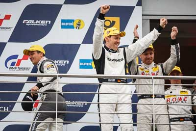 20-May-2013;24-Hour;Deutschland;Germany;Nordschleife;Nuerburg;Nuerburgring;Nurburg;Nurburgring;Nürburg;Nürburgring;ROWE-Racing;Rhineland‒Palatinate;Thomas-Jaeger;Thomas-Jäger;atmosphere;auto;celebration;motorsport;paddock;podium;portrait;racing;telephoto