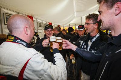 20-May-2013;24-Hour;Andreas-Weishaupt;Deutschland;Dörr-Motorsport-GmbH;Frank-Weishar;Germany;Nordschleife;Nuerburg;Nuerburgring;Nurburg;Nurburgring;Nürburg;Nürburgring;Rhineland‒Palatinate;Robert-Thomson;Stefan-Aust;Topshot;atmosphere;auto;celebration;motorsport;paddock;portrait;racing;telephoto;wide-angle